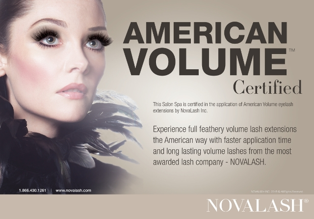 We are NovaLash American Volume Certified! Eye Lash Extentions